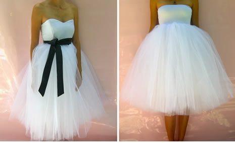 informal short wedding dress 23