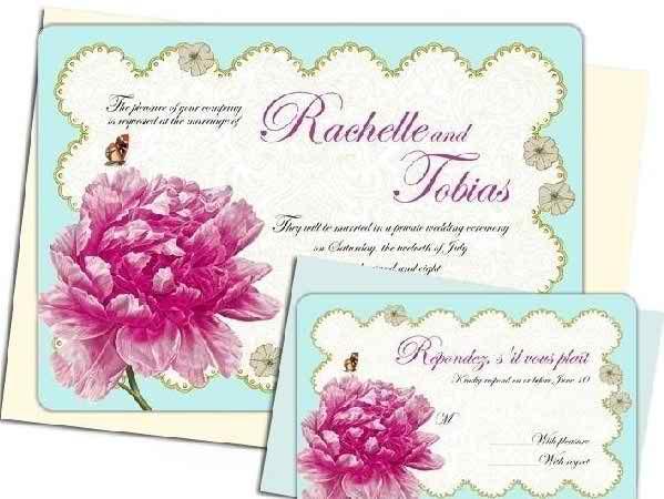 interesting models of wedding invitations 3