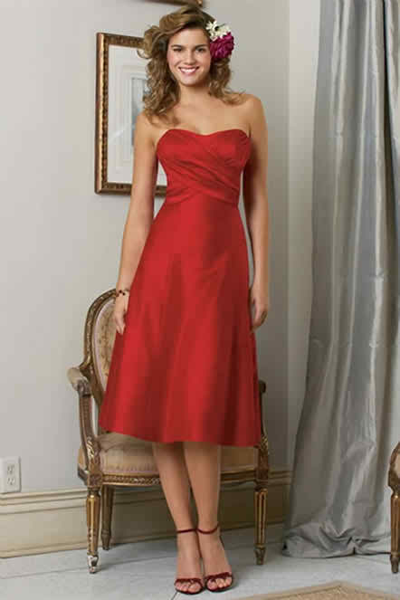 light red dresses for bridesmaids
