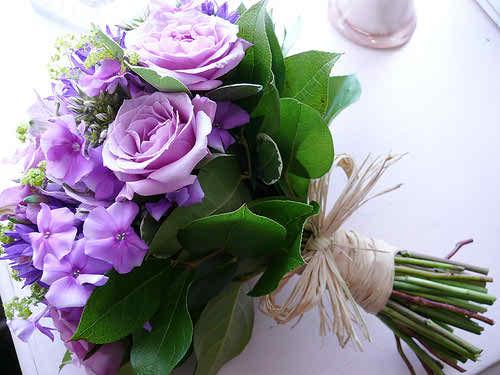 lilac wedding flowers 3