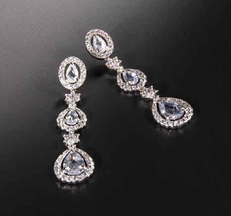 long bridal earrings
