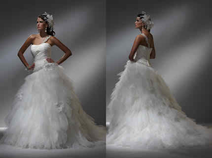 modifications brought to the bridal gowns