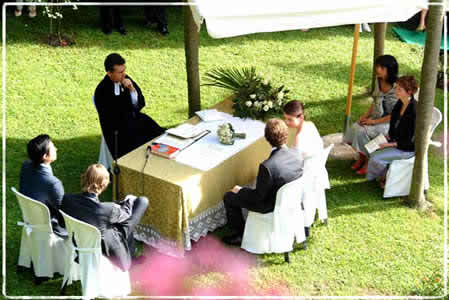 open air wedding