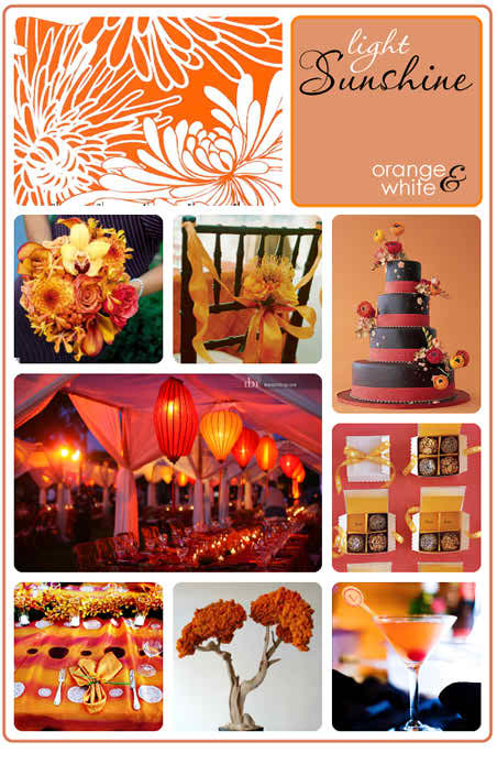 orange and white wedding 2