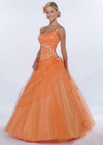 orange wedding dresses2