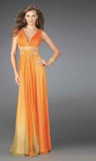 orange wedding dresses3