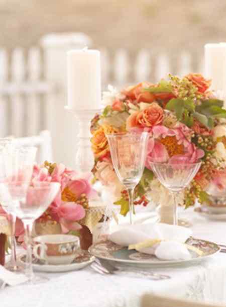 ornaments and wedding arrangements