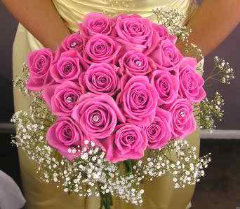 pink wedding flowers 2