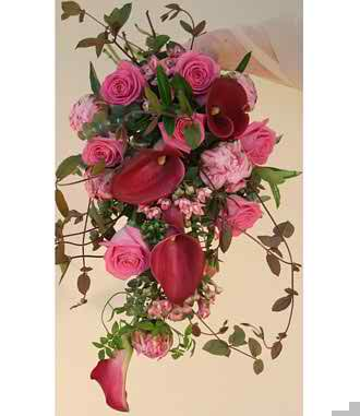 pink wedding flowers 3