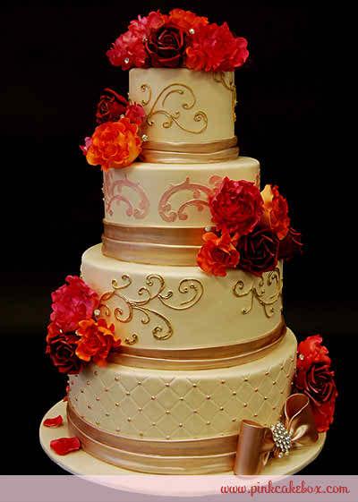 Red Rose Wedding Cakes Topweddingsites Com