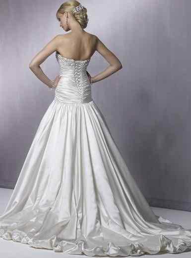 satin wedding dresses 2