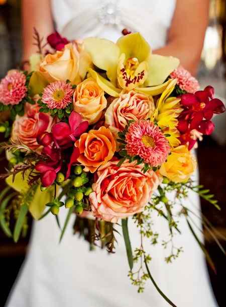 short bridal bouquets