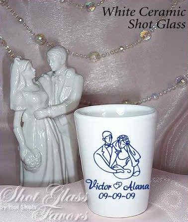 shot glasses as wedding favors