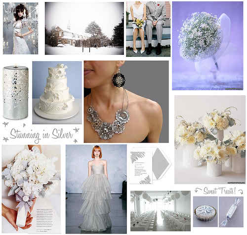 silver theme for your wedding