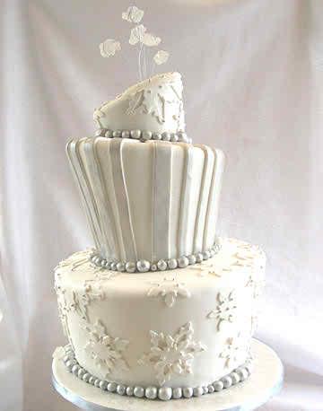 Snowflake Wedding Cakes 2