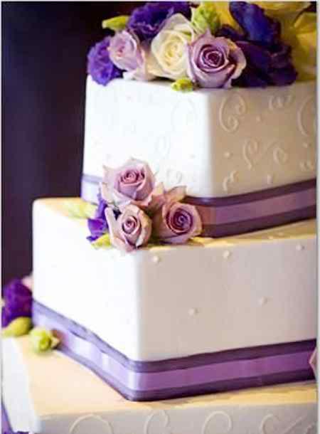 square wedding cakes 2