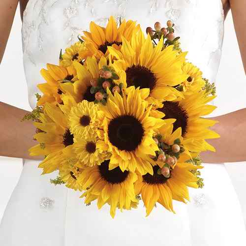 sunflower theme for your wedding 2 2