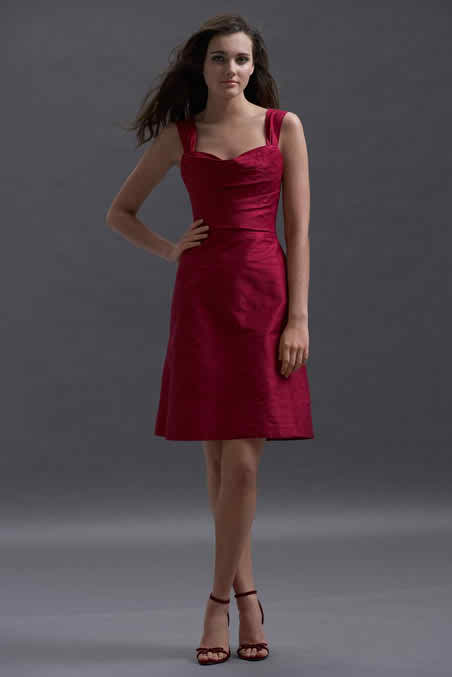 the red corset dress for bridesmaids