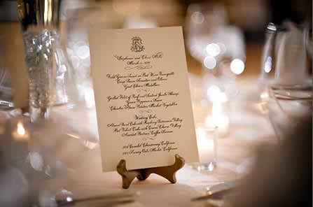 the wedding menu 2