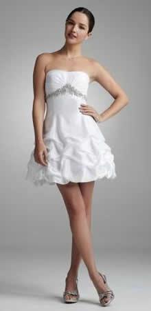 short bridal gown