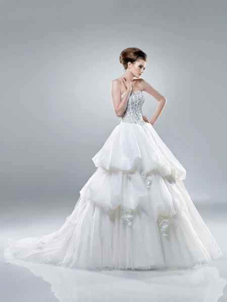 two pieces wedding dresses