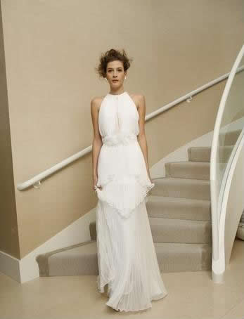 Bridal gowns with high neckline