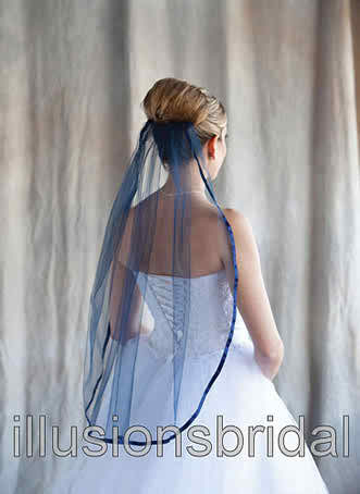 Colored bridal veils