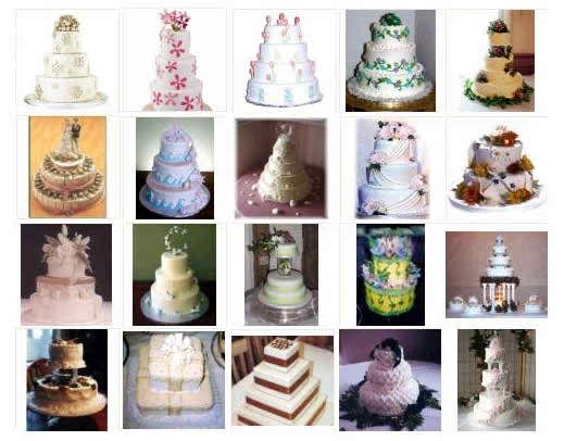 wedding cakes in time