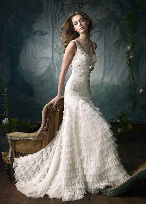 wedding dresses signed Lazaro 2