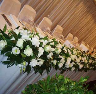 wedding reception flowers 2