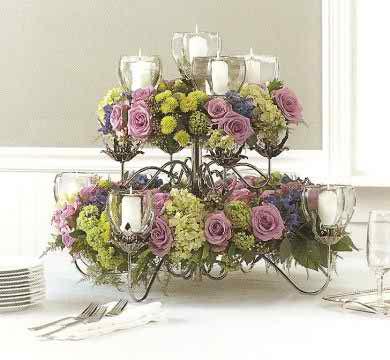 wedding reception flowers2