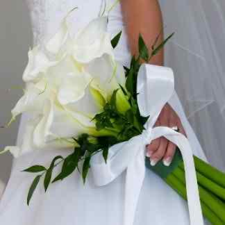 wedding with calla theme
