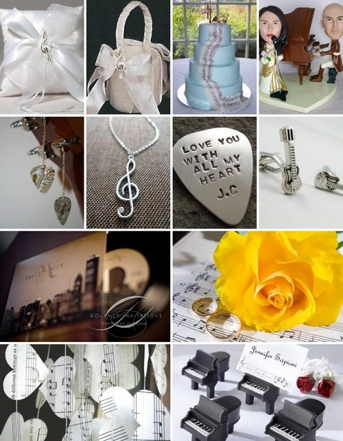 wedding with musical theme 3