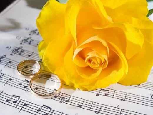wedding with musical theme