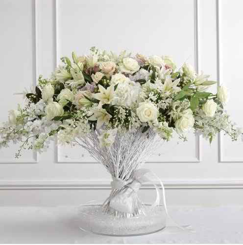 white foral arrangements