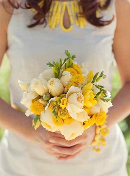 yellow flower arrangements 3