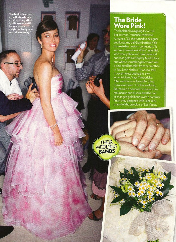 Jessica Biel Dawned My Personal Favorite Of The Bunch A Floucing Blushy Gown That Gave Entire Day Fairy Tale Feel