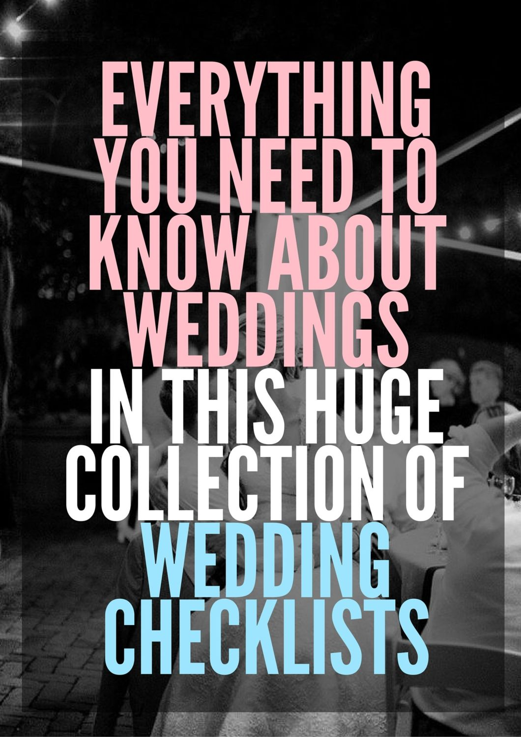 collection of wedding checklists