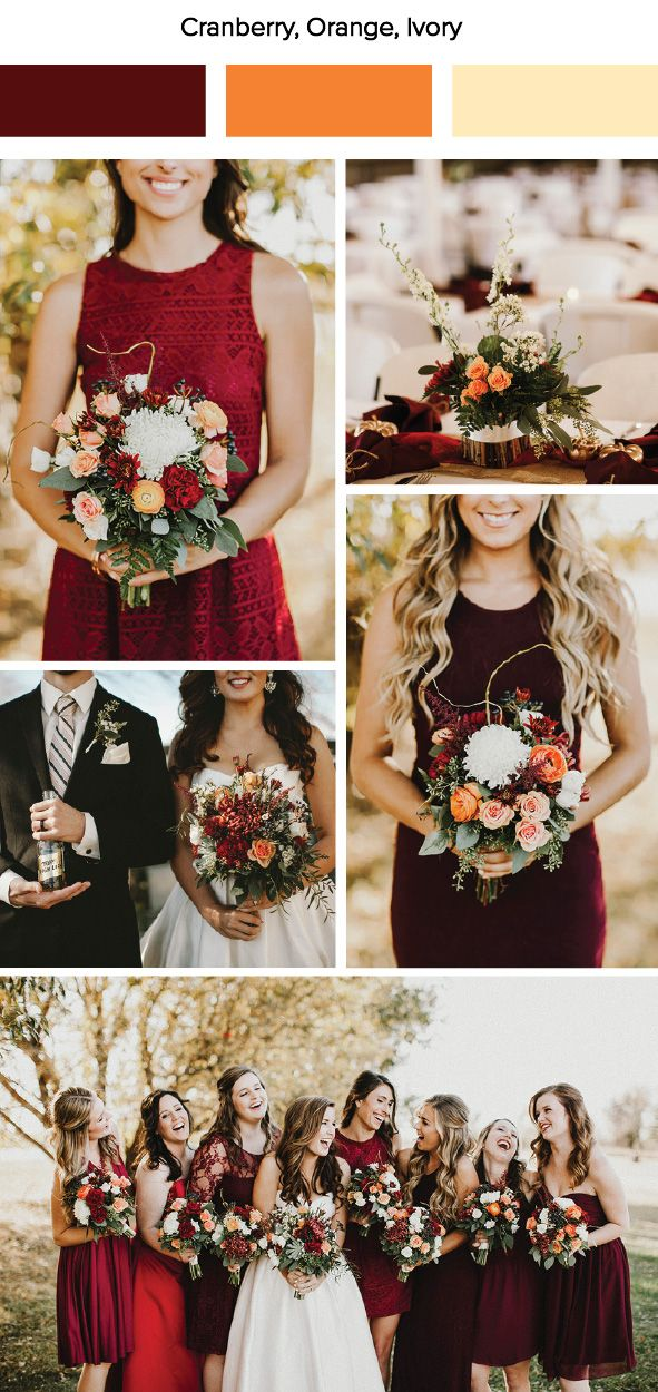 Classic Fall Colors Arent Seen As The Most Beautiful Of Choices For Weddings But Just Look How This Cranberry And Mango Pop Off In Photographs