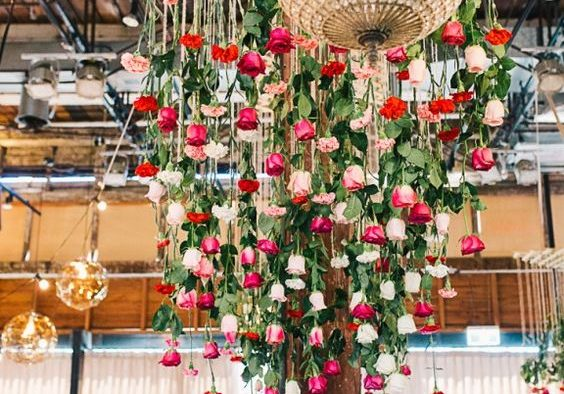 How to decorate a church for your wedding 10 floral reception ceilings that will make you re think your day of decor junglespirit Gallery