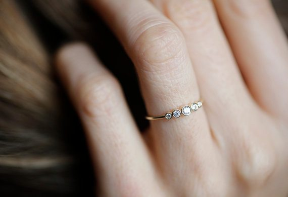 Bedazzle Yourself In This Tranquil And Simple Diamond Stunner That Can Work  As Either An Engagement Or Wedding Band.