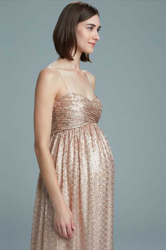 Have Your Las Sparkling And Shining In A Gold Glittering Gown That Will Look Amazing On Any Of Mother To Be Bridesmaids