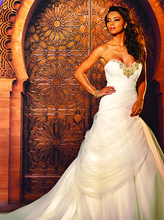 And Then Theres The Jasmine Inspired Wedding Gown It Has All Right Rushing Some Beautiful Embellishments On Neckline