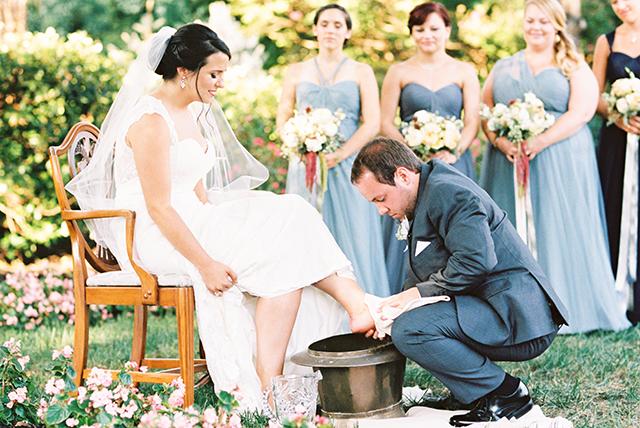foot washing ceremony wedding