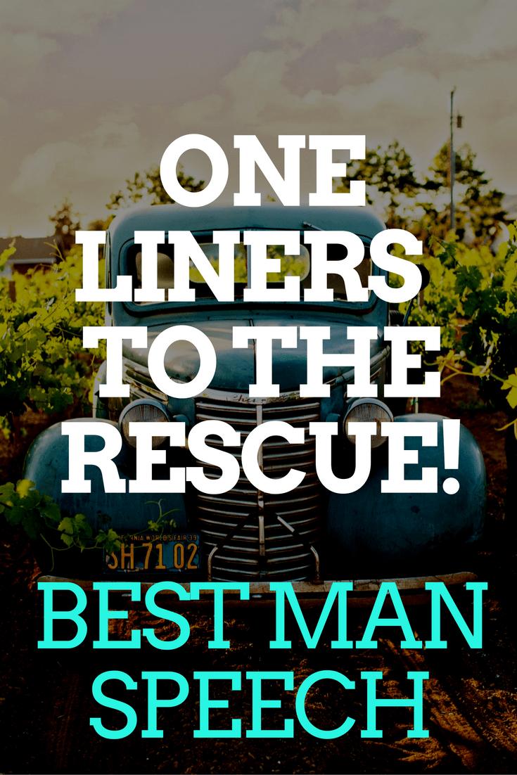 BEST MAN SPEECH one liners