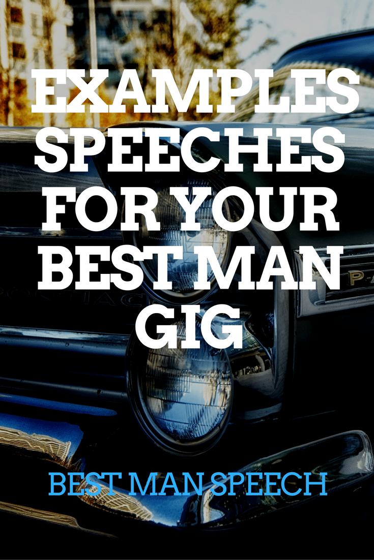 BEST MAN SPEECH EXAMPLES