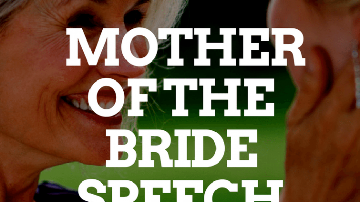MOTHER OF THE BRIDE SPEECH TEMPLATES