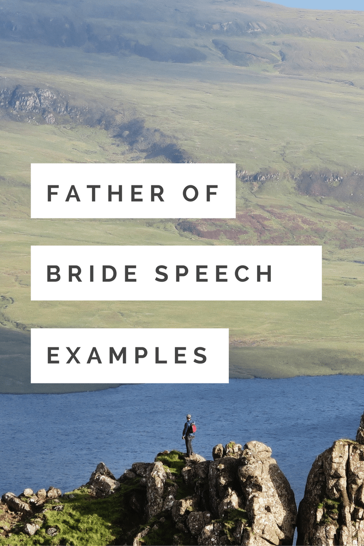 father of bride speech examples