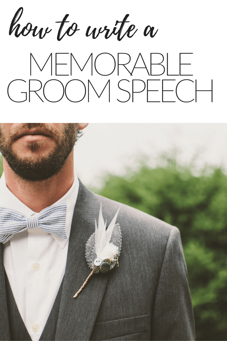 MEMORABLE GROOM SPEECH