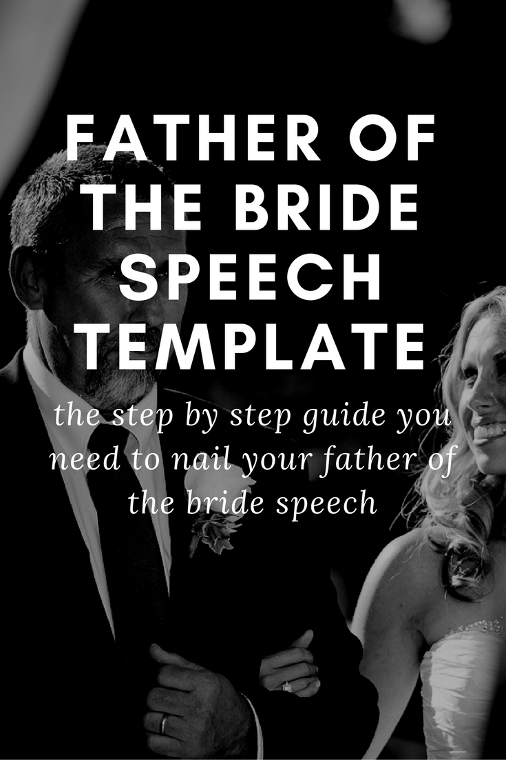 Father of the bride speech template wedding speeches and for Father of the bride speech templates